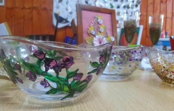 Obiecte decorative 3- pictură pe sticlă